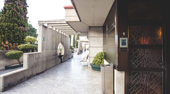Pasillo Servicios funerarios integrales EMSFCM Madrid