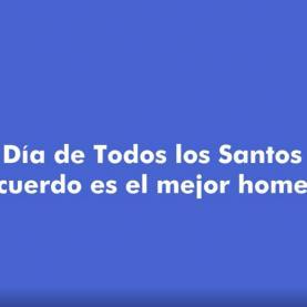 Homenaje Dia de Todos los Santos 2020 Servicios Funerarios de Madrid